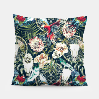 Thumbnail image of Dark pattern boho skull tropical Almohada, Live Heroes