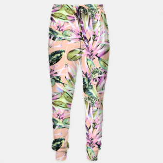 Thumbnail image of Abstract of exotic nature pink I Pantalones de chándal, Live Heroes