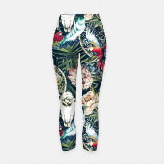 Thumbnail image of Dark pattern boho skull tropical Leggings de yoga, Live Heroes