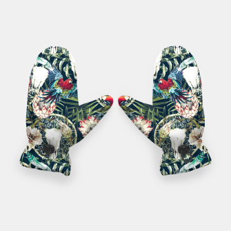 Thumbnail image of Dark pattern boho skull tropical Guantes, Live Heroes