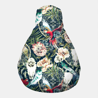 Thumbnail image of Dark pattern boho skull tropical Puf, Live Heroes