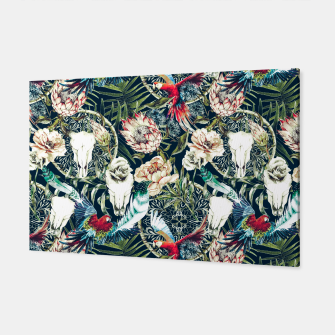 Thumbnail image of Dark pattern boho skull tropical Canvas, Live Heroes