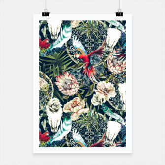 Thumbnail image of Dark pattern boho skull tropical Cartel, Live Heroes