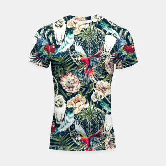 Thumbnail image of Dark pattern boho skull tropical Shortsleeve Rashguard, Live Heroes