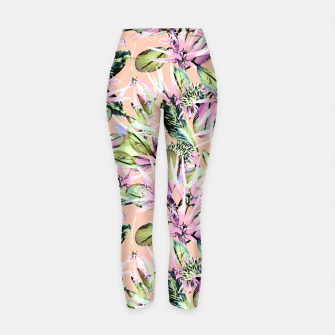 Thumbnail image of Abstract of exotic nature pink I Leggings de yoga, Live Heroes