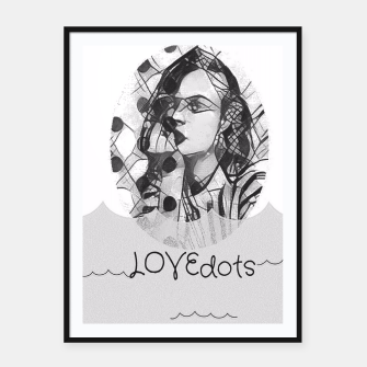 Thumbnail image of love dots Framed poster, Live Heroes