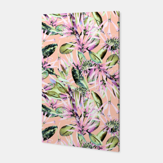 Thumbnail image of Abstract of exotic nature pink I Canvas, Live Heroes