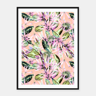 Thumbnail image of Abstract of exotic nature pink I Cartel con marco, Live Heroes