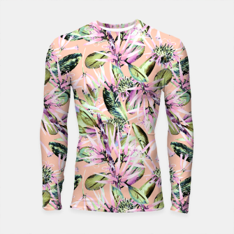 Thumbnail image of Abstract of exotic nature pink I Longsleeve Rashguard, Live Heroes