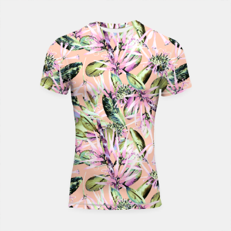 Thumbnail image of Abstract of exotic nature pink I Shortsleeve Rashguard, Live Heroes