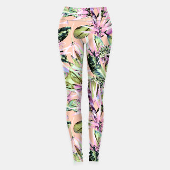 Thumbnail image of Abstract of exotic nature pink I Leggings, Live Heroes