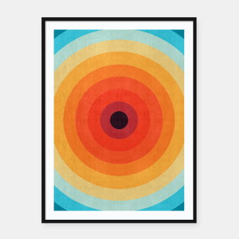 Miniaturka Colorful circle Framed poster, Live Heroes