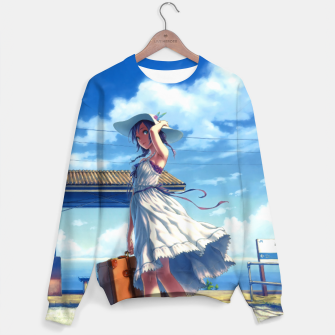 Thumbnail image of Anime Girl Travel Sudadera, Live Heroes
