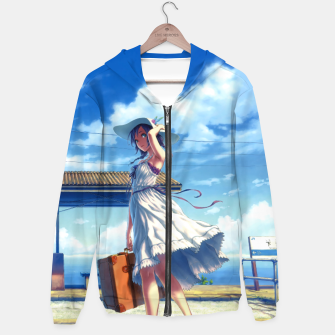 Thumbnail image of Anime Girl Travel Sudadera con capucha, Live Heroes