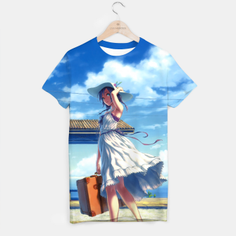 Thumbnail image of Anime Girl Travel Camiseta, Live Heroes