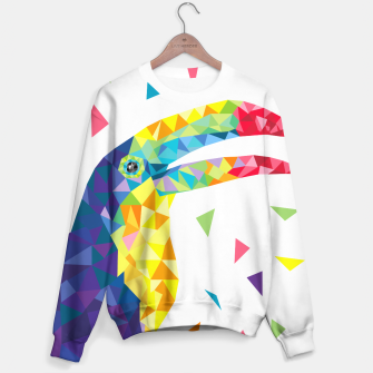 Geometric Toucan  Sweater miniature