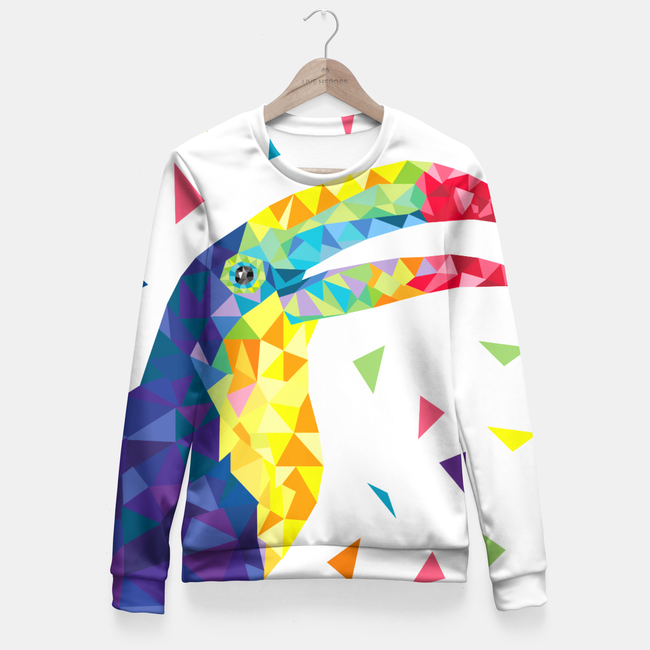 Image de Geometric Toucan  Fitted Waist Sweater - Live Heroes