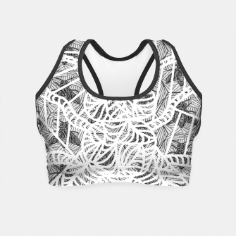 Thumbnail image of bee gray Crop Top, Live Heroes