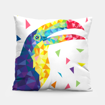 Geometric Toucan  Pillow miniature