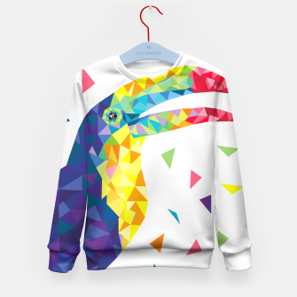 Thumbnail image of Geometric Toucan  Kid's Sweater, Live Heroes