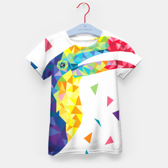 Geometric Toucan  Kid's T-shirt miniature