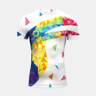 Geometric Toucan  Shortsleeve Rashguard miniature