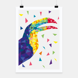Geometric Toucan  Poster miniature