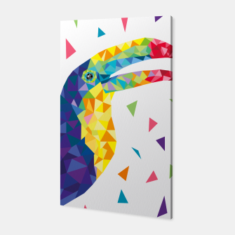 Geometric Toucan  Canvas miniature