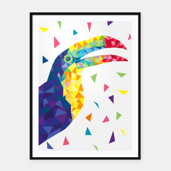 Geometric Toucan  Framed poster miniature