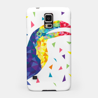 Geometric Toucan  Samsung Case miniature