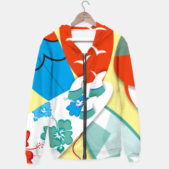Thumbnail image of Surf boards Hoodie, Live Heroes