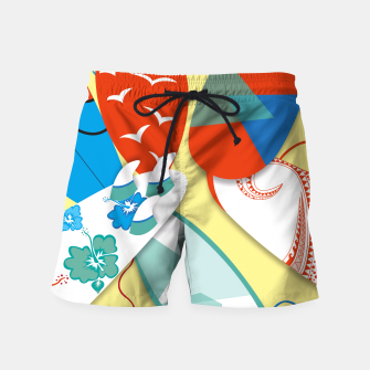 Miniatur Surf boards Swim Shorts, Live Heroes
