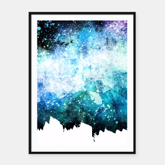 Thumbnail image of Blue Tone Space Framed poster, Live Heroes