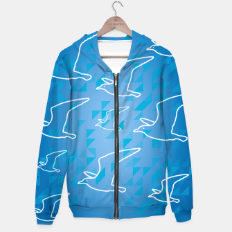 Thumbnail image of Line Drawing Seagulls  Hoodie, Live Heroes