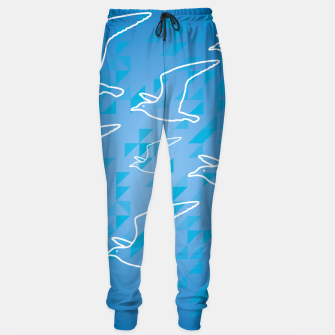 Line Drawing Seagulls  Sweatpants miniature