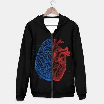 Thumbnail image of Heart and Brain Hoodie, Live Heroes