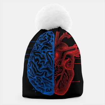 Miniatur Heart and Brain Beanie, Live Heroes
