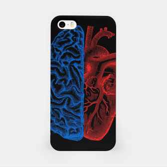 Miniatur Heart and Brain iPhone Case, Live Heroes