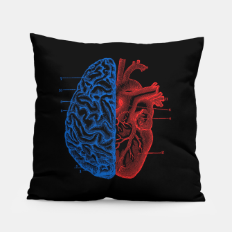 Miniatur Heart and Brain Pillow, Live Heroes