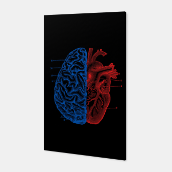 Miniatur Heart and Brain Canvas, Live Heroes