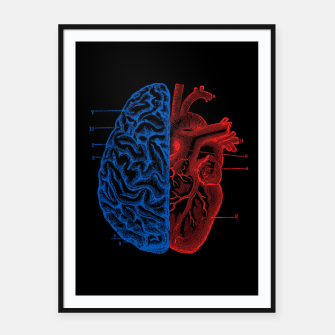 Thumbnail image of Heart and Brain Framed poster, Live Heroes