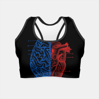 Thumbnail image of Heart and Brain Crop Top, Live Heroes