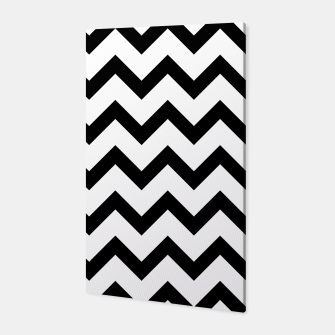 Thumbnail image of Simple Black and white Chevron pattern Canvas, Live Heroes