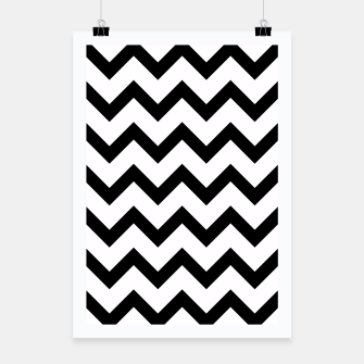 Thumbnail image of Simple Black and white Chevron pattern Poster, Live Heroes