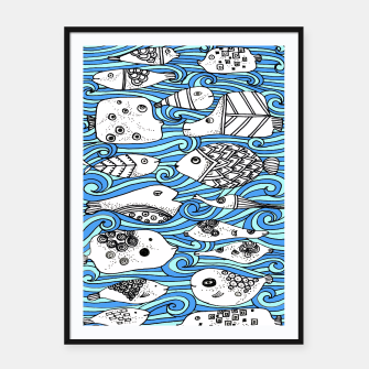 Miniatur Fishy friends Framed poster, Live Heroes