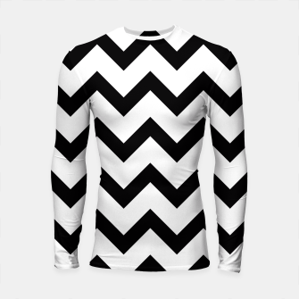 Thumbnail image of Simple Black and white Chevron pattern Longsleeve Rashguard , Live Heroes