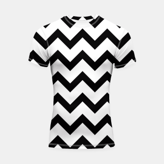 Thumbnail image of Simple Black and white Chevron pattern Shortsleeve Rashguard, Live Heroes