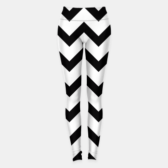 Thumbnail image of Simple Black and white Chevron pattern Leggings, Live Heroes