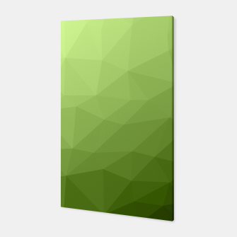 Greenery ombre gradient geometric mesh Canvas thumbnail image