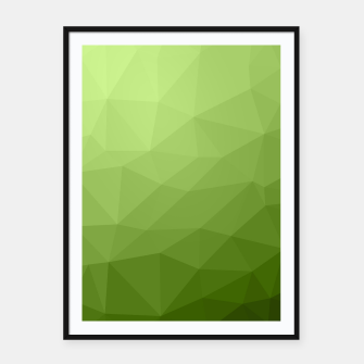 Thumbnail image of Greenery ombre gradient geometric mesh Framed poster, Live Heroes